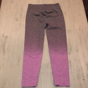Aerie Ombré leggings Large purple black